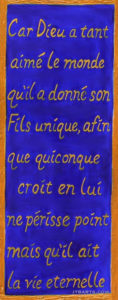 John 3:16 in French. John 3:16 in many different world languages.