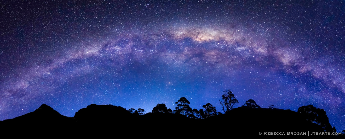 Milky Way Panorama Over The Labyrinth, Lake St. Clair