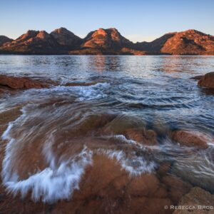 Hazards Sunrise, Coles Bay, Freycinet, Tasmania landscape photograph.