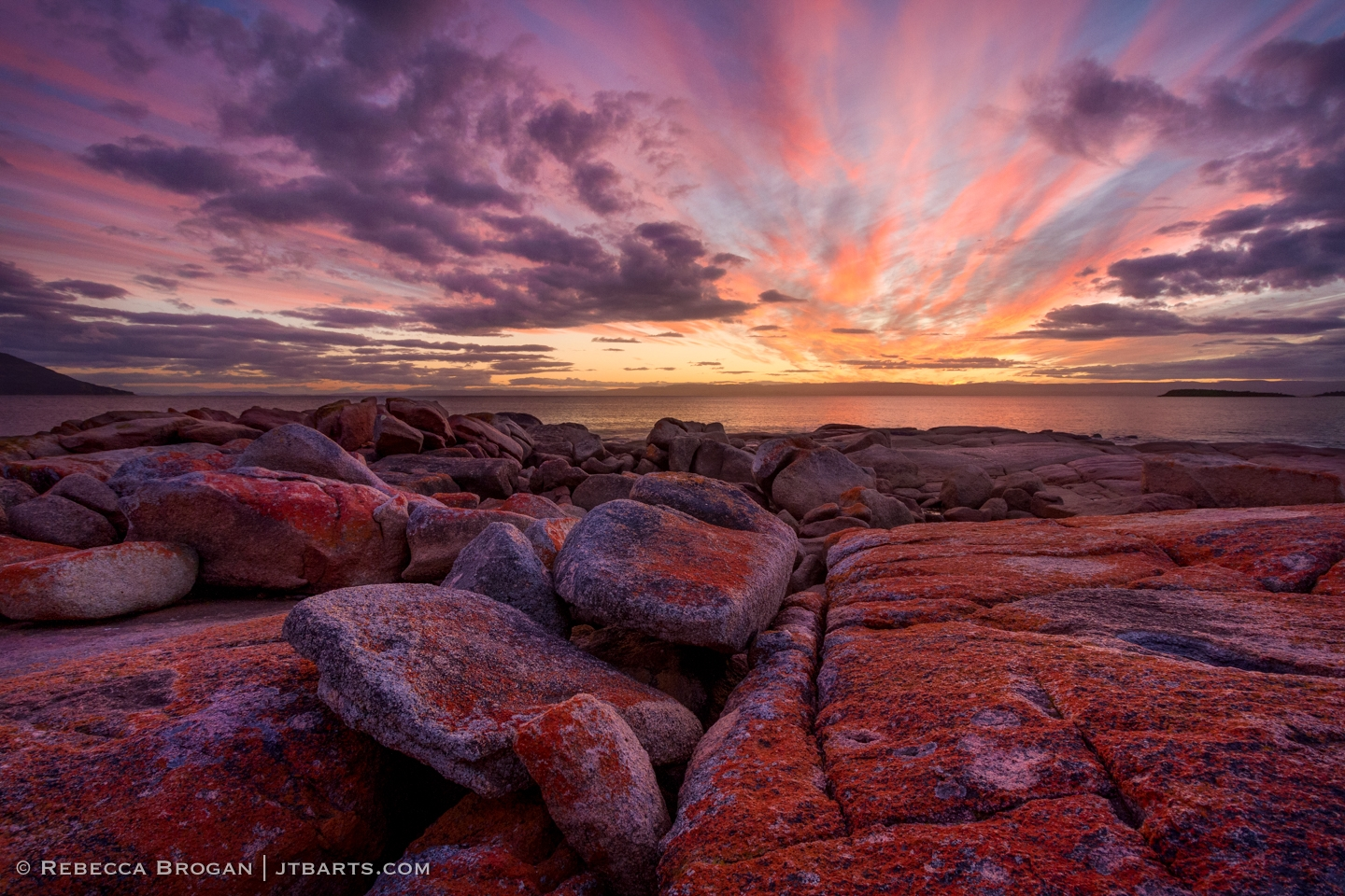 Freycinet Sunset from Coles Bay 1