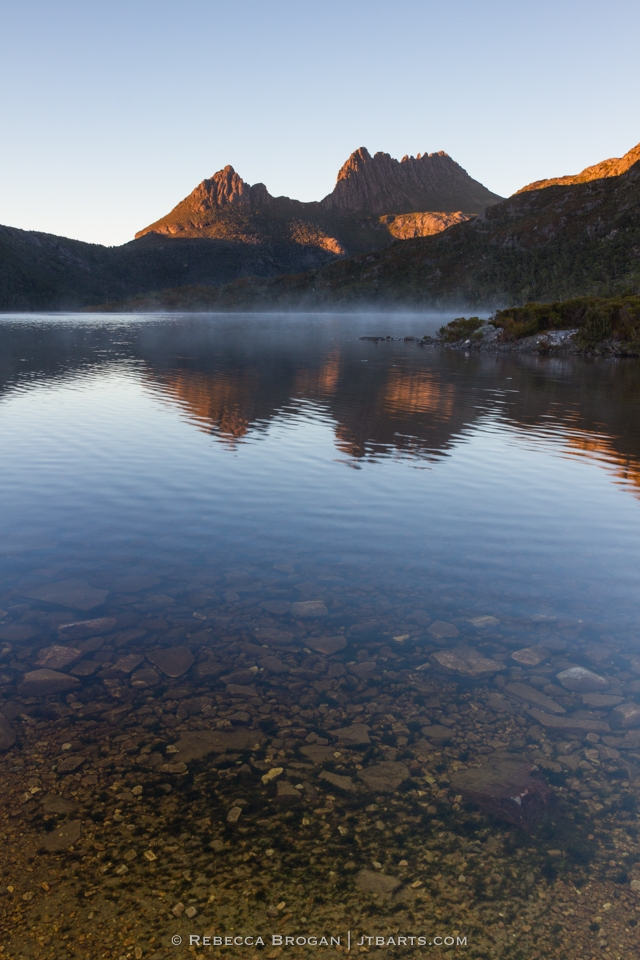 Cradle Mountain Reflection on Dove Lake. Cradle Mountain - Lake St Clair National Park, Tasmania.