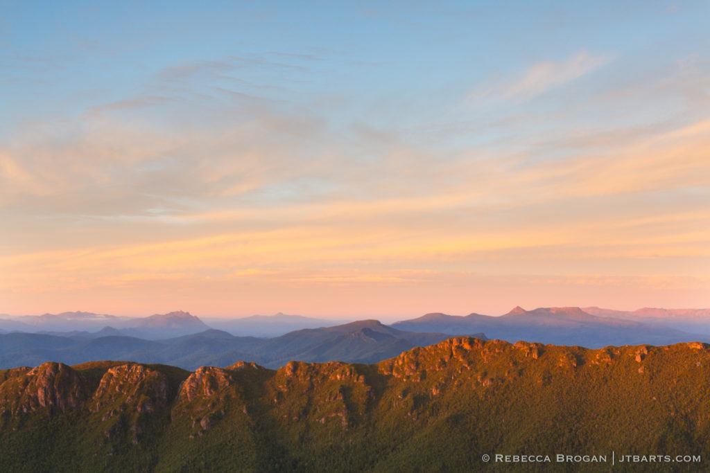 High Camp sunset, Mt. Anne track circuit, Tasmania