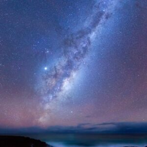 Milky Way over Friendly Beaches, Freycinet National Park, Tasmania, night photography landscape photo.