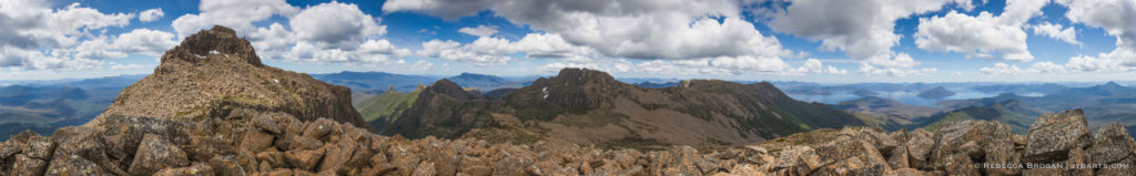 Mt Anne Lake Pedder 360 Panorama