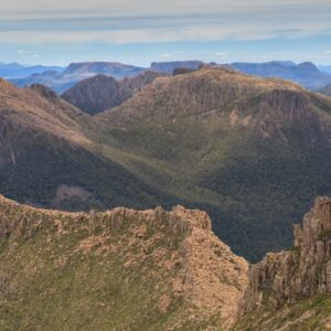 Mt. Ossa summit panorama photography. The Overland Track. Cradle Mountain - Lake St. Clair National Park, Tasmania.