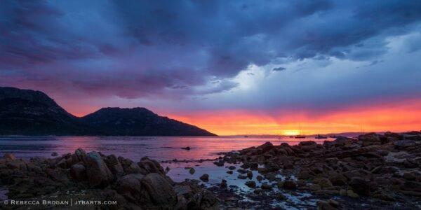 Richardsons Beach Sunset Freycinet