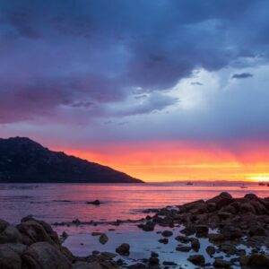 Richardsons Beach Sunset Freycinet