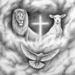 Lion and the lamb, lion of Judah, lamb of God.