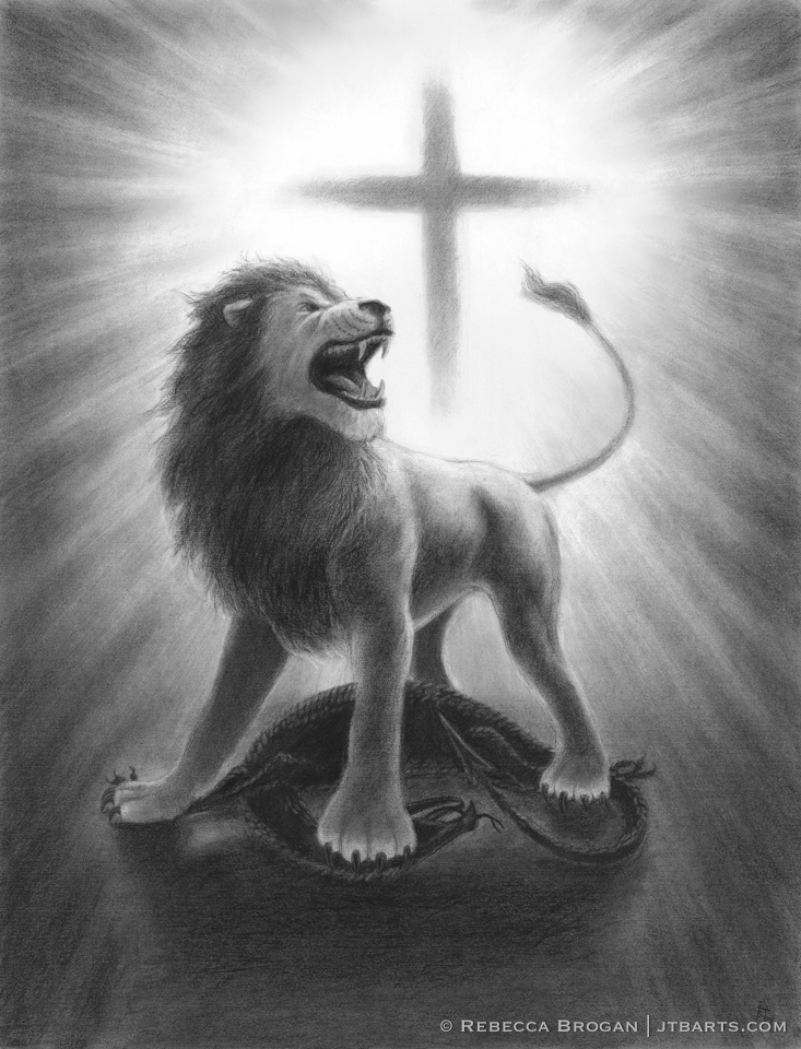 The Lion of Judah Triumphant Over The Dragon Lion of Judah Roari