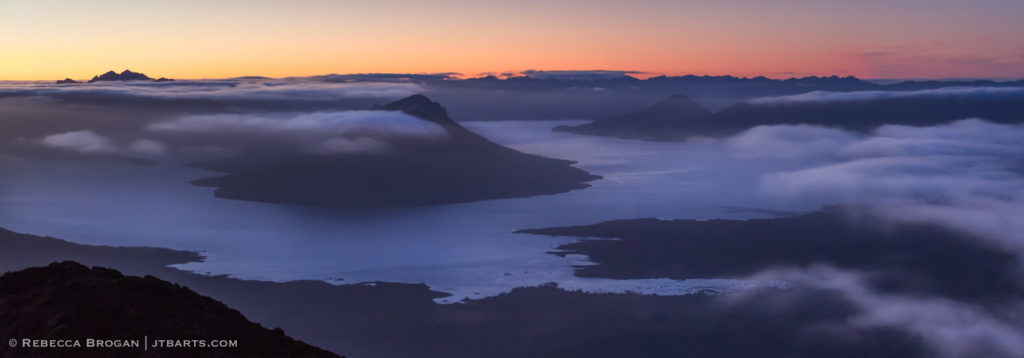 Lake Pedder panorama, High Camp, Mt. Eliza track, Tasmania