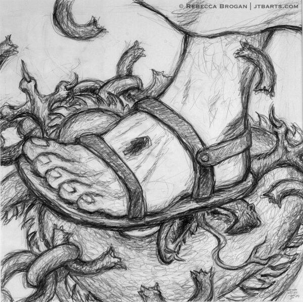 Jesus crushing the head of the serpent, devil, Genesis 3:15. Victory in spiritual warfare, battle.
