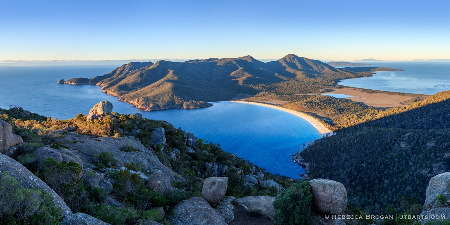 Wineglass Bay from Mt Amos Summit Freycinet National Park