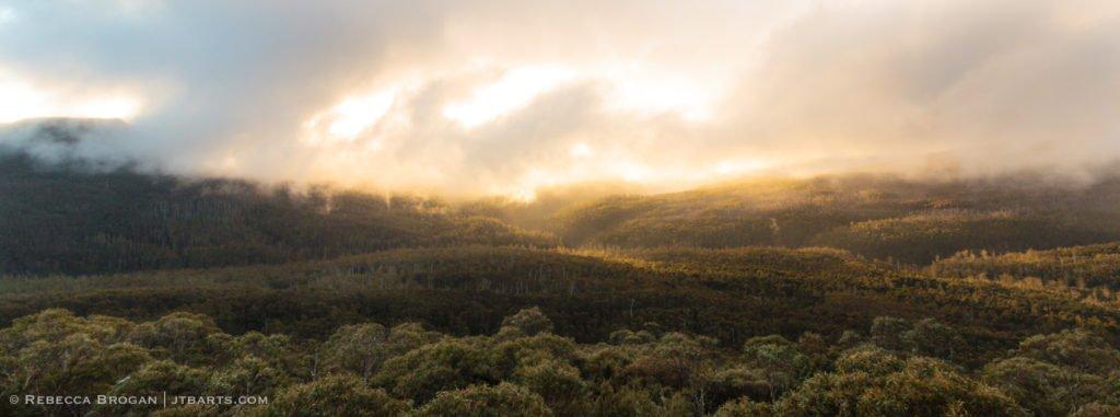 Winter Squall Panorama from Trestle Mountain, Wellington Range