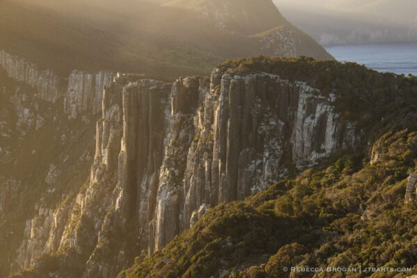 Cape Pillar sunset, Three Capes Track walk, Tasmania.