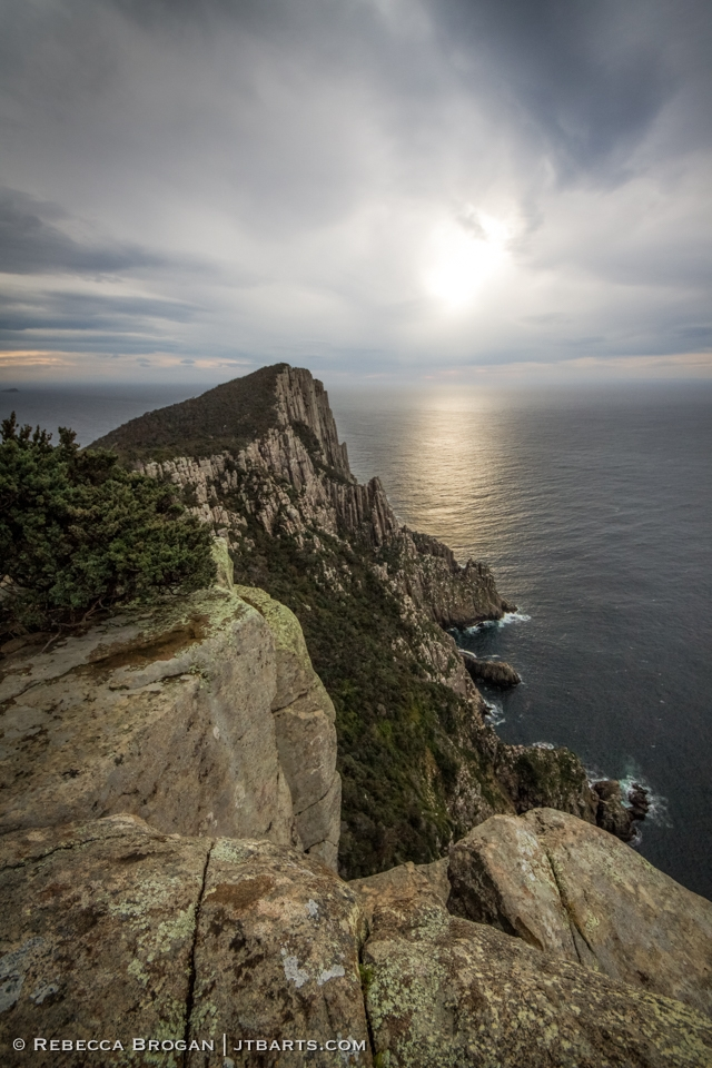 Cape Pillar sunrise, Three Capes Track walk, Tasmania.