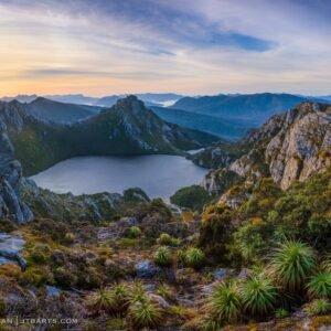 Lake Oberon Western Arthurs sunrise, Tasmania