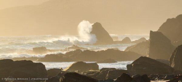 Waves on South Cape Bay, South Coast Track, Tasmania