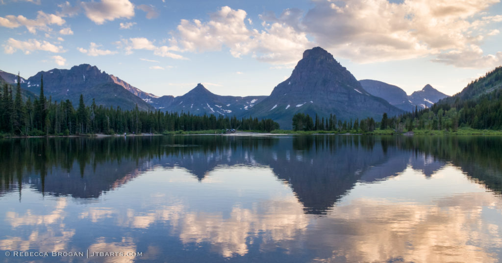 1) Sinopah Mountain Pray Lake Reflections Panorama (Two Medicine, Glacier National Park) GNP3